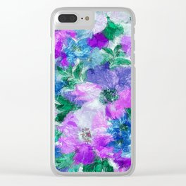 Splendid Flowers 3 Clear iPhone Case