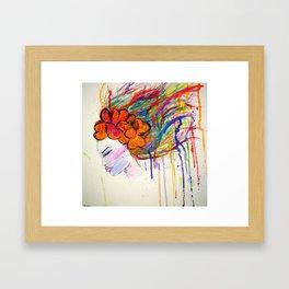 Drip Woman Framed Art Print