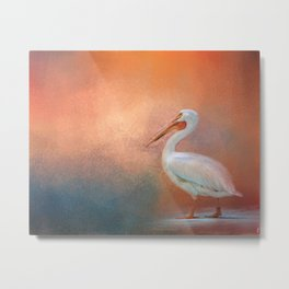 Pelican Walk Metal Print