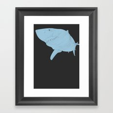 All lines lead to the...Inverted Great White Shark Framed Art Print