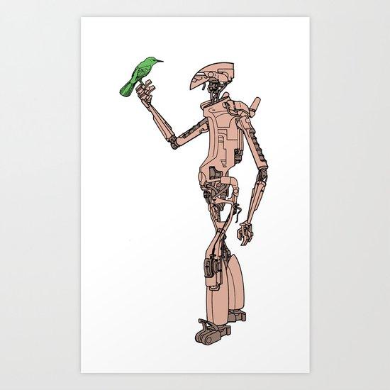 Culprit Tech Robot #3 Art Print