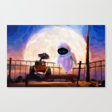 Wall-E & Eve - Painting Style Canvas Print