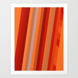 Wild Red Stripes Art Print