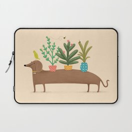 Dachshund & Parrot Laptop Sleeve