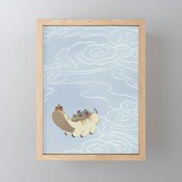 Team Avatar in the Sky Framed Mini Art Print