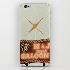 Retro Saloon Sign iPhone & iPod Skin