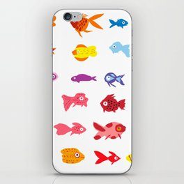 Fish collection iPhone Skin