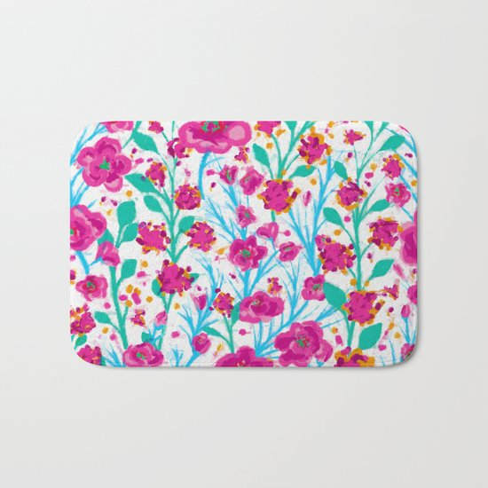 There are many flowers Bath Mat