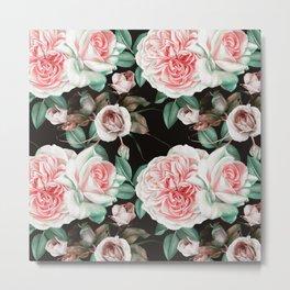 Dark floral bloom Metal Print