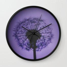 DANDELION PURPLE Wall Clock