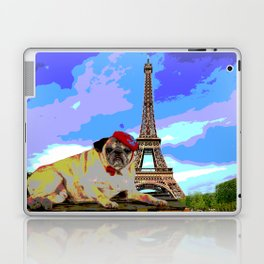 A Pug in Paris Laptop & iPad Skin