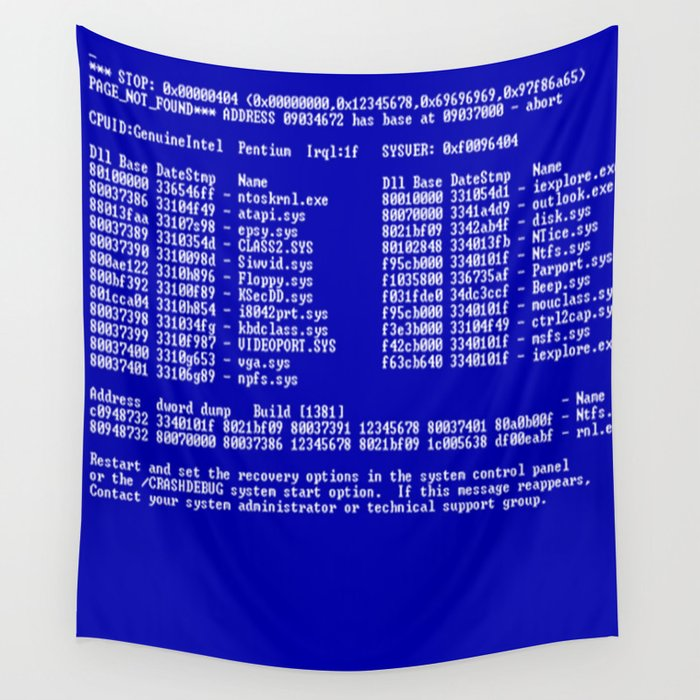 Bluescreen Wall Tapestry