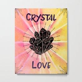 Crystal Love - Boho Crystal Watercolor Metal Print