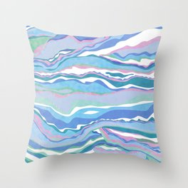 cotton candy pastel lines Throw Pillow