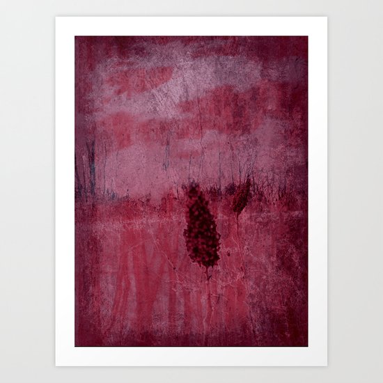 Red is Winter ~ Abstract Art Print
