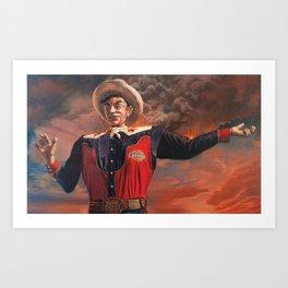 Big Tex Burning Art Print