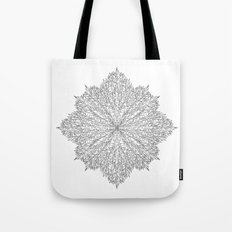 flower line art - white Tote Bag
