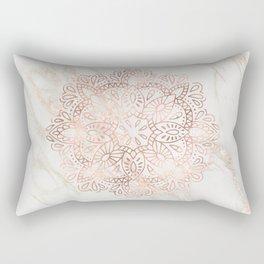Rose Gold Mandala Marble Rectangular Pillow