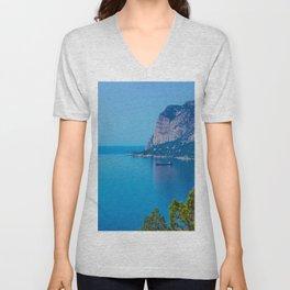 Blue Seascape Unisex V-Neck