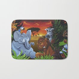 Jungle Mural Bath Mat