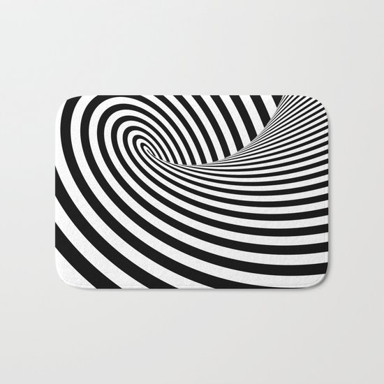 Dizzy lines - Optical game 16 Bath Mat