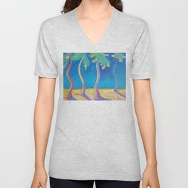 DANCING PALMS Unisex V-Neck