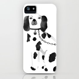 Staffordshire Dogs (Black) iPhone Case