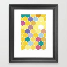 Honey Comb turns Zesty Framed Art Print