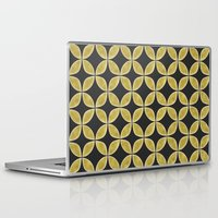 black and gold Laptop & iPad Skins featuring Black + Gold by Dipsum
