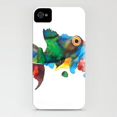 colorful fish Slim Case iPhone (4, 4s)