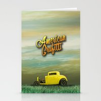 grafitti Stationery Cards featuring American Grafitti by Tony Vazquez