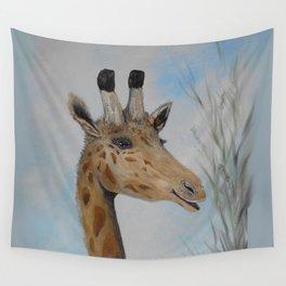 Giraffe Smile Wall Tapestry