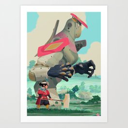 Pelle and Shovel Art Print