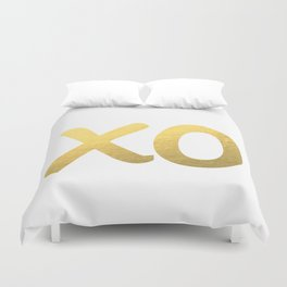XO gold Duvet Cover