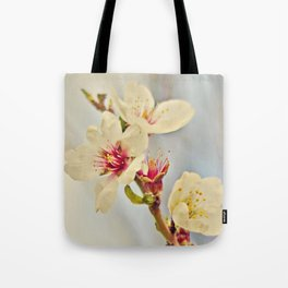 Almond Blossoms in the Wind Tote Bag