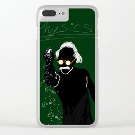 Einstein bae Clear iPhone Case