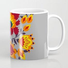 Folk flowers in orange shades Coffee Mug