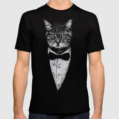 Mr Cat Mens Fitted Tee Black X-LARGE