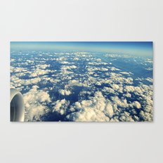 flying over mountain tops Canvas Print