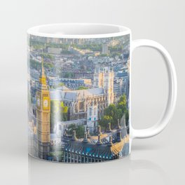 View of Big Ben and Houses of Parliament from London Eye   Europe UK City Urban Landscape Photography Coffee Mug