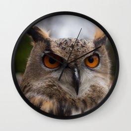 European Eagle Owl Wall Clock