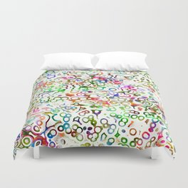 Abstract Microbes Duvet Cover
