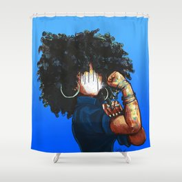 Naturally the Riveter  Shower Curtain