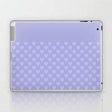 Light purple monochrome pattern with hearts . Laptop & iPad Skin