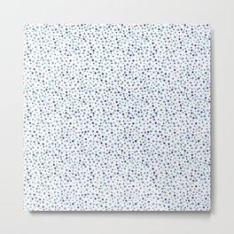 Bubble Rocks-Blue : Part of Organic Medallion collection Metal Print