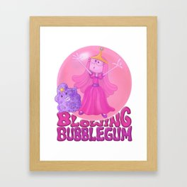 Blowing Bubblegum Framed Art Print