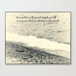 Inspirational Vintage Beach Photography Canvas Print