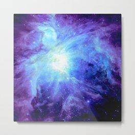 NEBula Purple Periwinkle Blue Metal Print