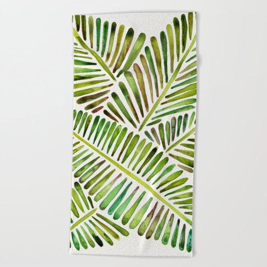 Tropical Banana Leaves – Green Palette Beach Towel