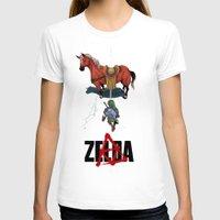akira T-shirts featuring Zelda/Akira by Henrique Jardim